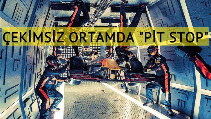 """Red Bull takımından yer çekimsiz ortamda """"pit stop"""" rekoru"""