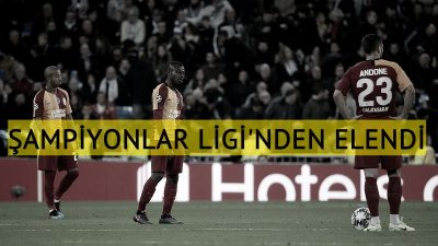 Galatasaray Şampiyonlar Ligi'nden elendi