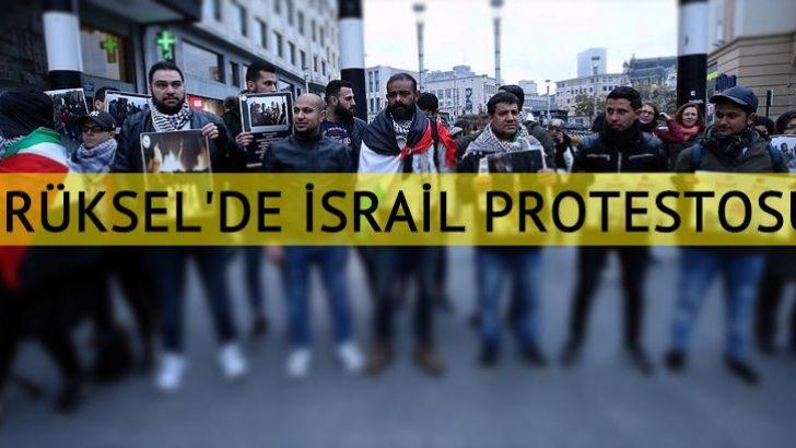 İsrail'in Gazze saldırısı Brüksel'de protesto edildi