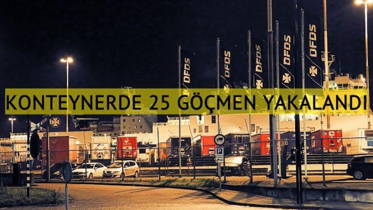 Hollanda'da bir geminin konteynerinde 25 kaçak göçmen yakalandı