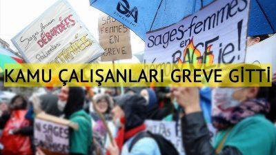 Brüksel'de kamu çalışanları greve gitti