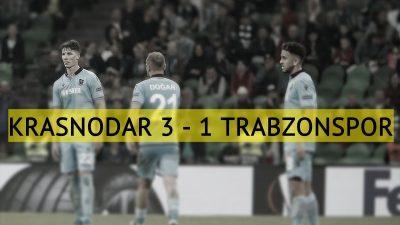 Trabzonspor, Krasnodar deplasmanından mağlup ayrıldı