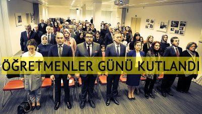 Brüksel'de 24 Kasım Öğretmenler Günü kutlandı