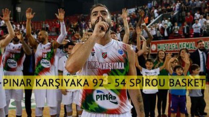 Pınar Karşıyaka'dan Spirou Basket'e farklı tarife