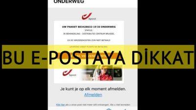 """Bpost"" adına gelen e-postalara dikkat"