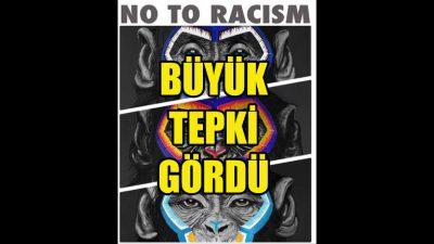 Irkçılıkla mücadelede kullanılan maymun tablolarına tepki