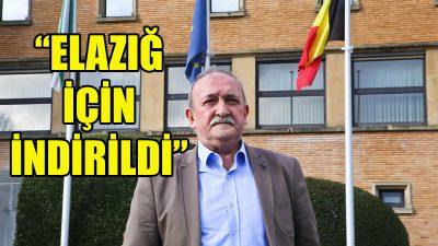 """Ali-İhsan İnce: """"Bayrakları Elazığ için indirdik"""""""