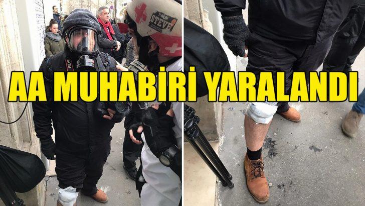AA Foto Muhabiri Dursun Aydemir Paris'teki gösteride yaralandı