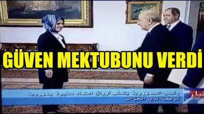 Cezayir Cumhurbaşkanı Tebbun, Büyükelçi Özdemir'i kabul etti