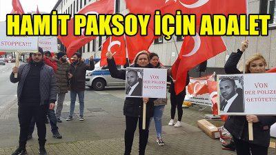 Polis kurşunuyla ölen Türk için adalet istiyorlar