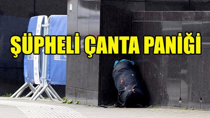 Brüksel'de şüpheli çanta paniği