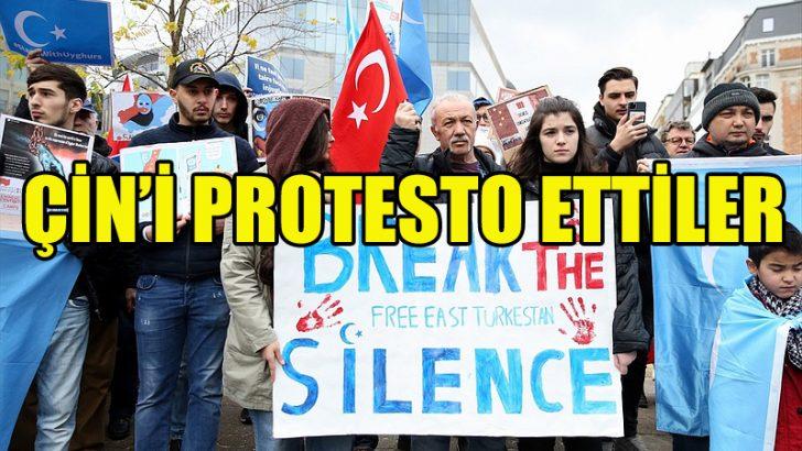 Brüksel'de Uygur Türkleri, Çin'i protesto etti