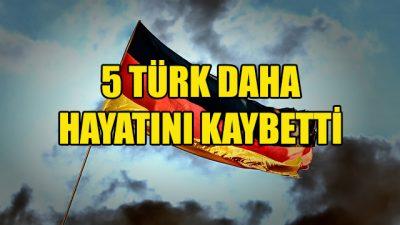 Almanya'da 5 Türk daha Kovid-19 nedeniyle hayatını kaybetti