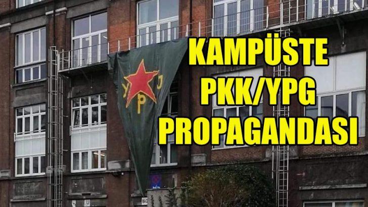 ULB'nin kampüsünde PKK/YPG propagandası