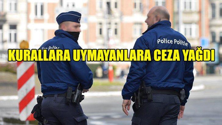 Brüksel polisi kurallara uymayanlara ceza yağdırdı