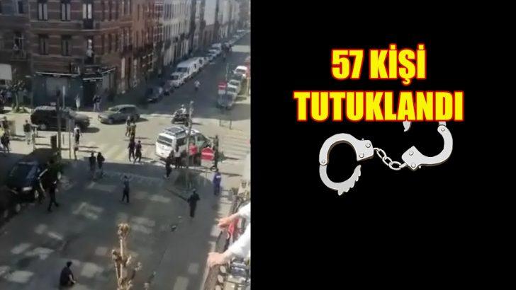 Anderlecht'te çıkan olaylara karışan 57 kişi tutuklandı