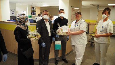 BİF'ten sağlık sektörü çalışanlarına teşekkür ziyareti