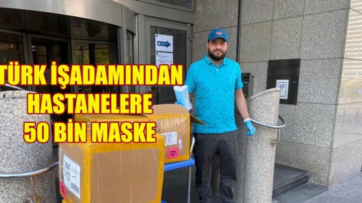 Türk İşadamından Brüksel'deki hastanelere 50 bin maske
