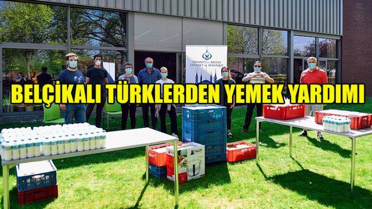 Belçikalı Türkler Anvers'te 3 bin 700 kap sıcak yemek dağıttı