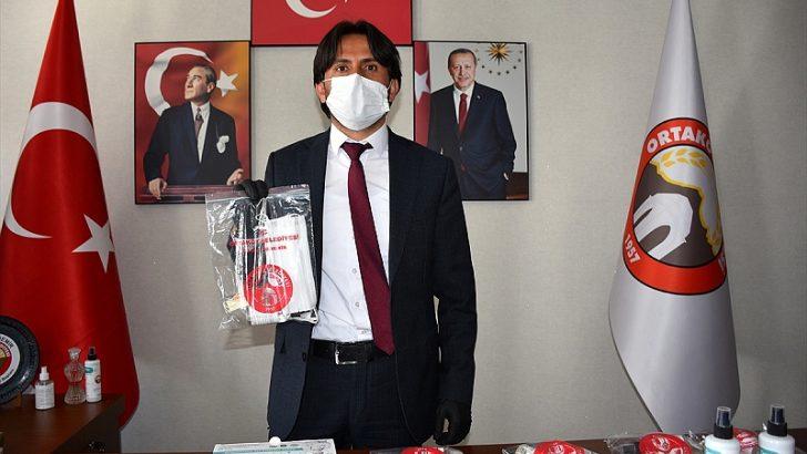 Aksaray'dan Avrupa'daki Türklere maske desteği