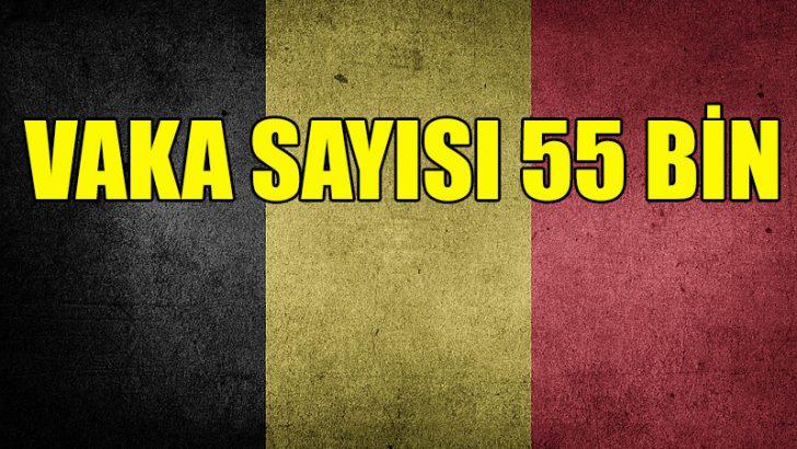Belçika'da Kovid-19 vaka sayısı 55 bini aştı