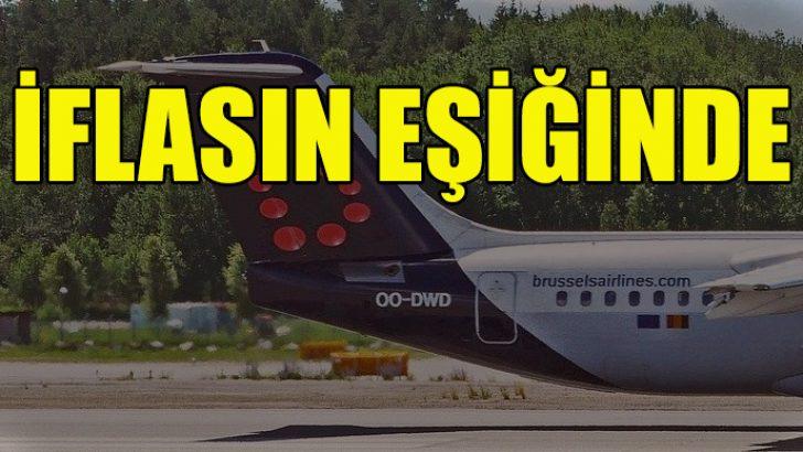 Belçika'nın havayolu şirketi iflasın eşiğinde
