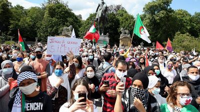 "İsrail'in ""ilhak"" planı Belçika'da protesto edildi"