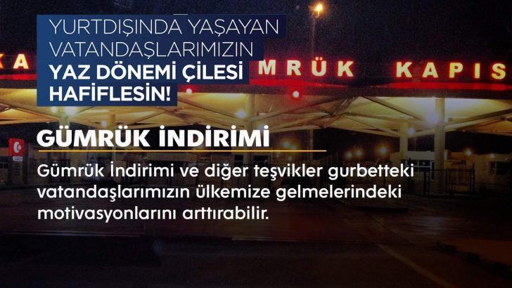 Türkiye'ye seyahat eden gurbetçiler için çözüm önerisi