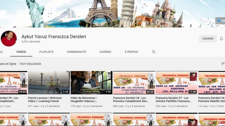 Youtube üzerinden Fransızca dersleri