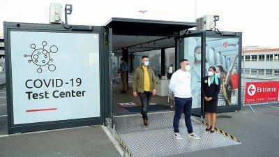 Brüksel Havalimanı'nda Kovid-19 test merkezi açıldı