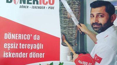 Dönerico'da hizmet paket servisiyle devam edecek