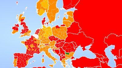 Belçika'nın seyahat haritası güncellendi