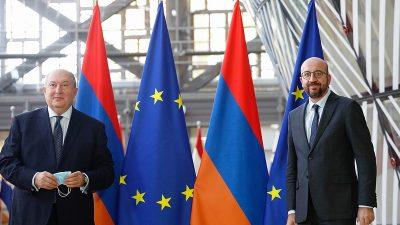 AB Konseyi Başkanı, Ermenistan Cumhurbaşkanı ile görüştü