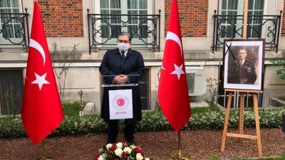 T.C. Brüksel Büyükelçisi Dr. Hasan Ulusoy'un 10 Kasım mesajı