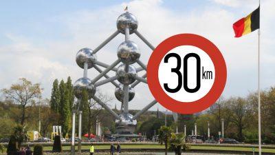 Brüksel'de araçlar için hız sınırı 30 kilometreye düşürüldü