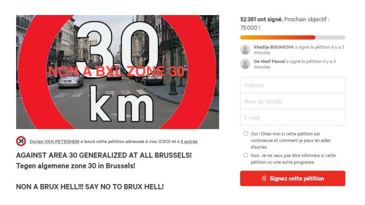 30 km/hız sınırına karşı başlatılan imza kampanyası 50 bini aştı