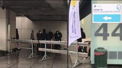 Brüksel'de ilk aşı merkezi faaliyete girdi
