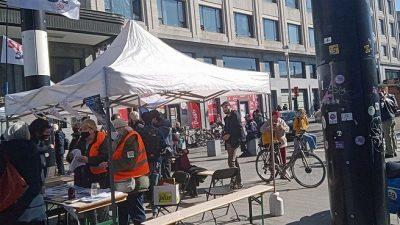 Brüksel'de 5G protesto edildi