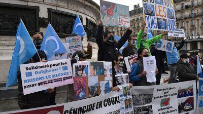 """Fransa'da İslamofobi ve """"ayrılıkçı"""" yasa tasarısı yeniden protesto edildi"""