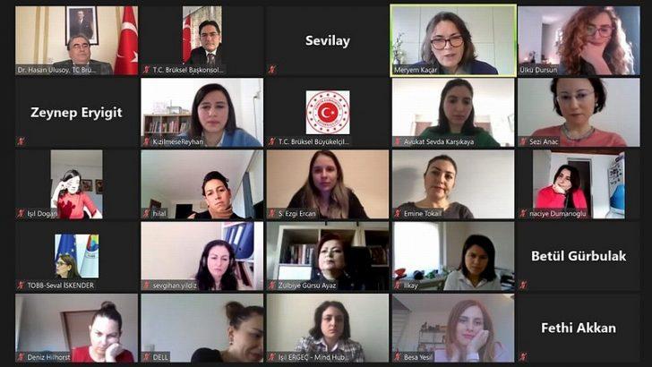 Belçika'daki Türk kadınlar iş hayatındaki deneyimlerini paylaştı