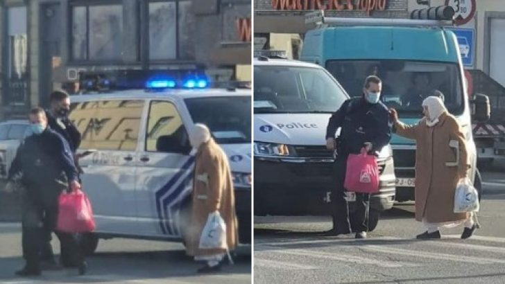 Belçikalı polis memurlarından alkışlanacak hareket