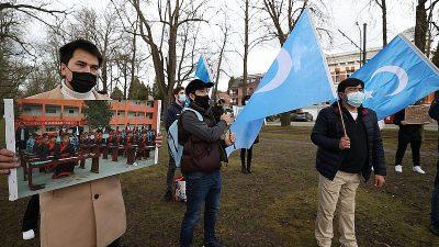 Uygur Türkleri Brüksel'de protesto gösterisi düzenledi