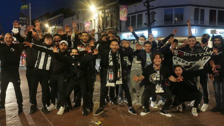 Beşiktaş'ın şampiyonluğu Belçika'da doyasıya kutlandı