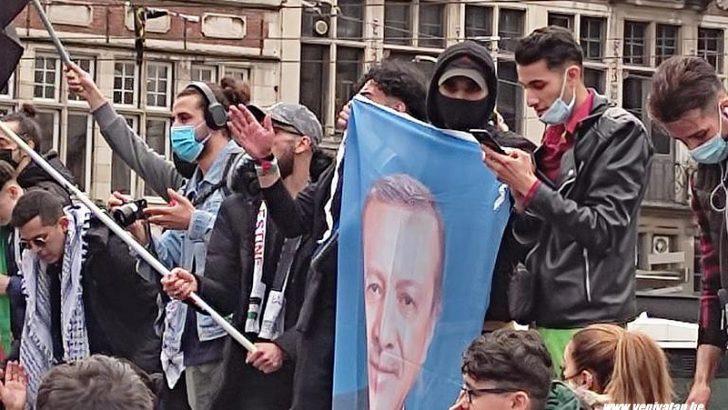 Gent şehrinde İsrail'in Filistinlilere yönelik saldırıları protesto edildi