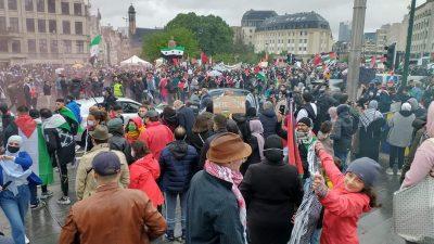 Belçika'da, İsrail'in Filistinlilere saldırıları protesto edildi