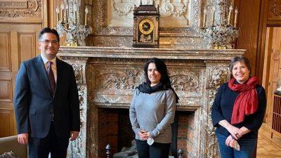 Başkonsolos Umut Deniz'den Schaerbeek belediyesine ziyaret