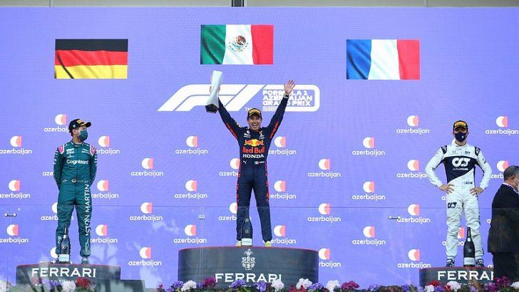 F1 Azerbaycan Grand Prix'sinde zafer Sergio Perez'in