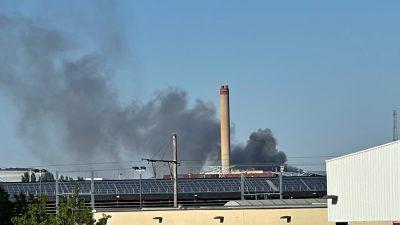 Brüksel yakınlarındaki metal fabrikasında yangın çıktı