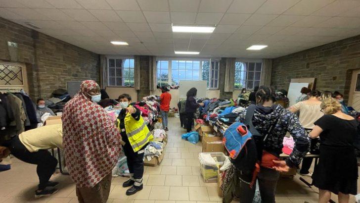 Belçika Diyanet Vakfı felaketzedelerin yanında