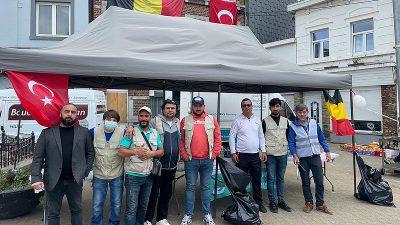 Hasene Derneği, Belçika'daki sel mağdurlarına yardım ediyor